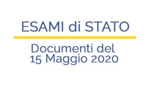 Documenti del 15 Maggio 2020