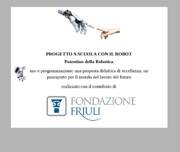 Patentino della Robotica Fondazione Friuli 2020